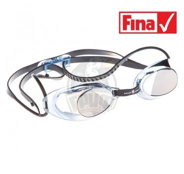 Очки для плавания стартовые Mad Wave Liquid Racing Mirror (серый)