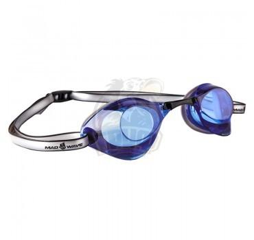 Очки для плавания стартовые Mad Wave Turbo Racer II (синий)