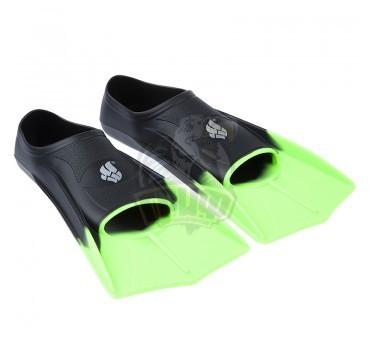 Ласты укороченные Mad Wave Fins Training (черный)
